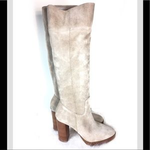 Michael Kors Tan Suede Heeled Boot 7